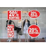 set 20% korting stickers (4 stickers)