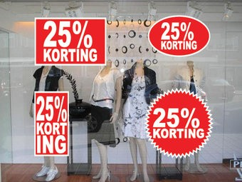 set 25% korting stickers (4 stickers)