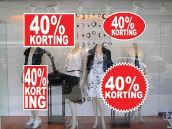 Lot d'autocollants 40% korting  (4 autocollants)