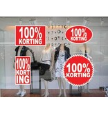 set 100% korting stickers (4 stickers)