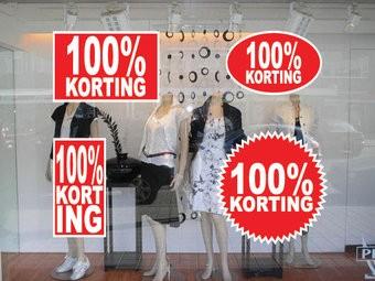 set 100% sale stickers (4 stickers)