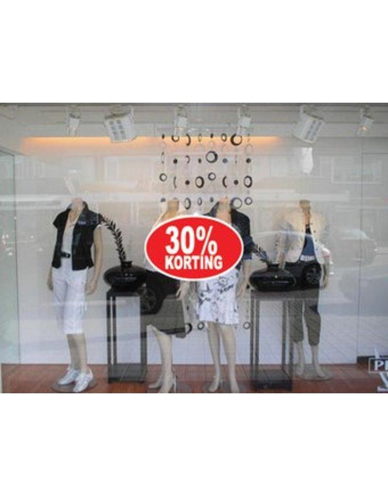 Oval 30% sale Sticker