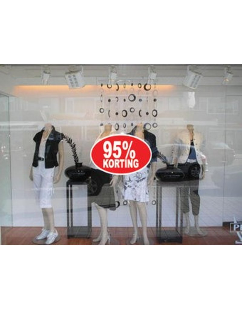Oval 95% sale Sticker