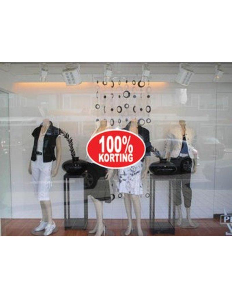 Oval 100% sale Sticker