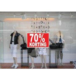 Rectangular 70% sale Sticker