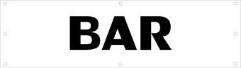 Evenementen spandoek Bar
