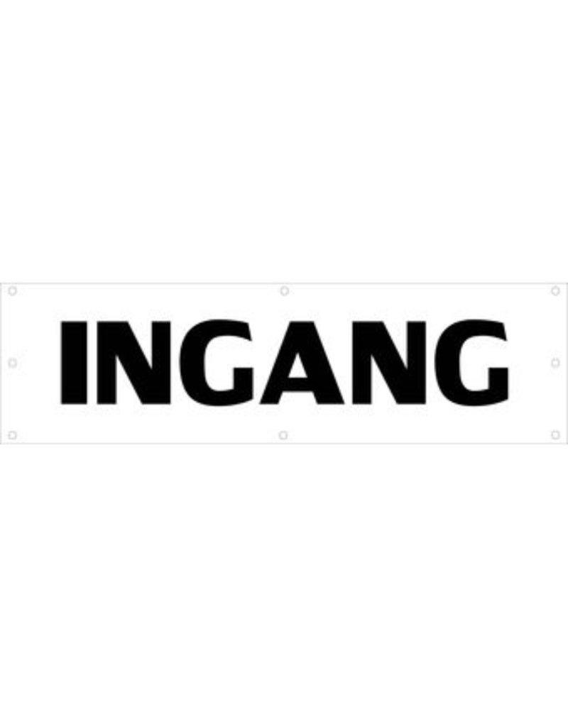 Evenementen spandoek Ingang