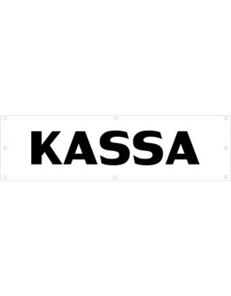 Evenementen spandoek Kassa