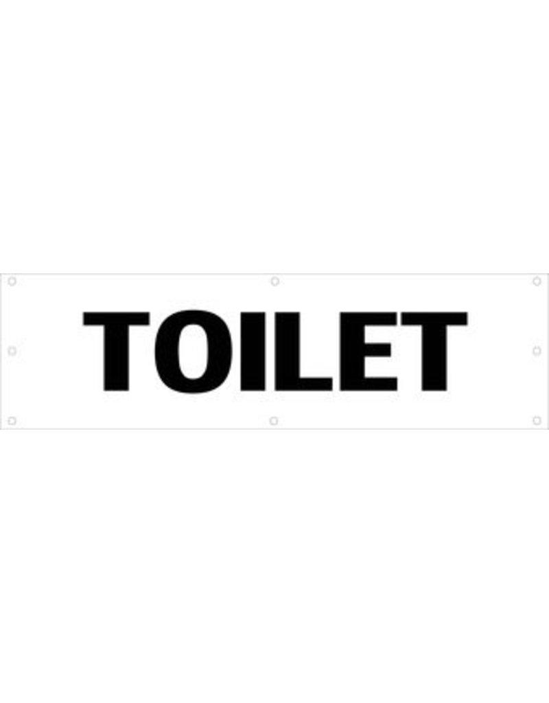 Evenementen spandoek Toilet