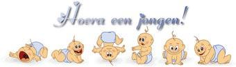 Banner Geburt Junge Baby-Emotionen