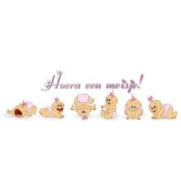 Banner Geburt Mädchen Baby-Emotionen