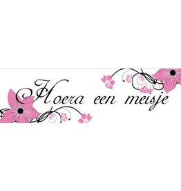 Banner Geburt Mädchen Blume