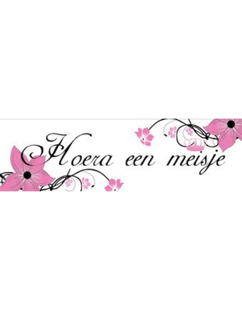 Banderola nacimiento Chica Flor