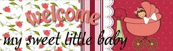 Spandoek Geboorte Welcome My sweet Little Girl