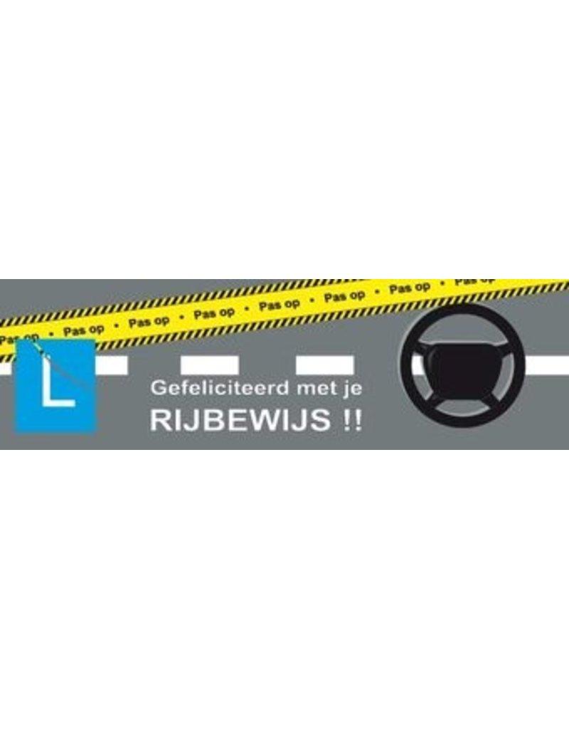 Banderola aprobado permiso de conducir