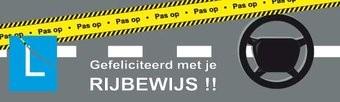 banner Geslaagd Rijbewijs