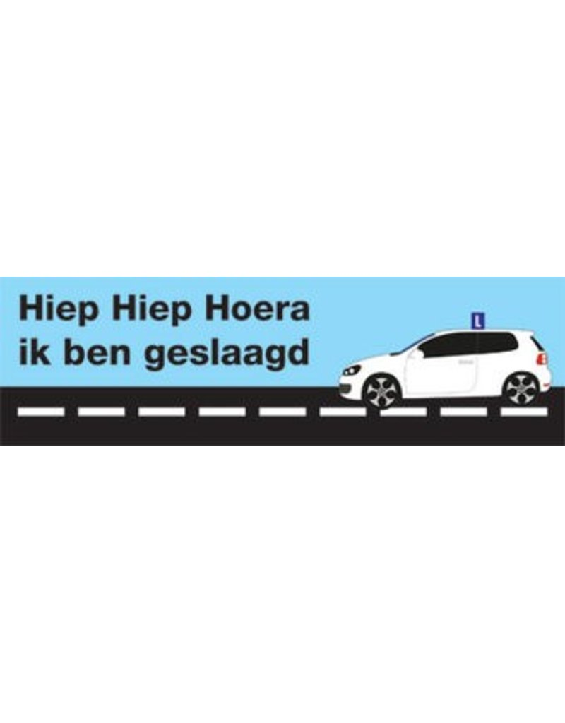 Banderola aprobado permiso de conducir 1
