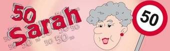 Banner Geburtstag 50 Jahre für Frauen