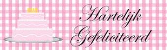 Taart Spandoek Verjaardag