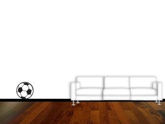 Fußball Inneneinrichtung Aufkleber