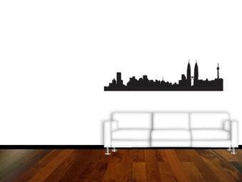 Skyline Inneneinrichtung Aufkleber