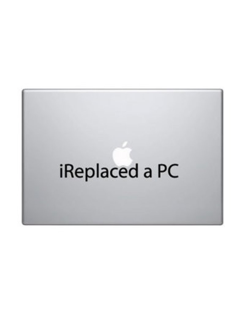 "Autocollant mac ""I replaced a PC"""