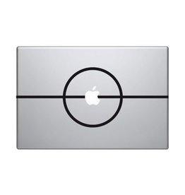 Middle Dot mac Sticker