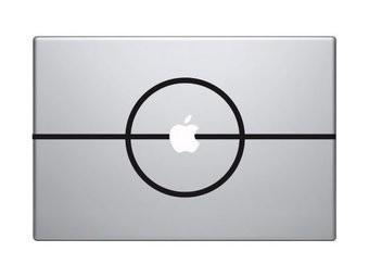 Middenstip mac Sticker
