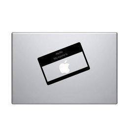 Autocollant mac Bonjour je m'appelle Apple