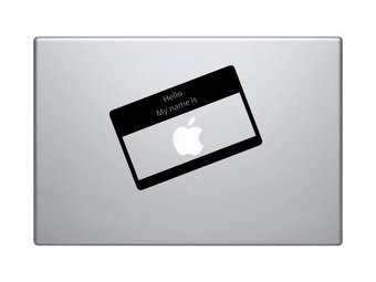 Hello my name is Apple mac Sticker