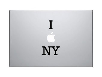 """Autocollant mac """"I love NY"""""""