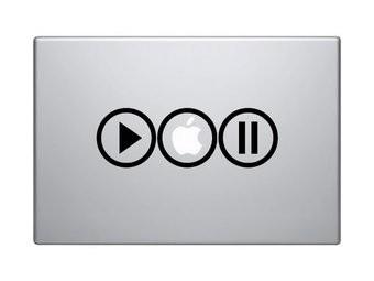 Play-Apple-Pause mac Sticker