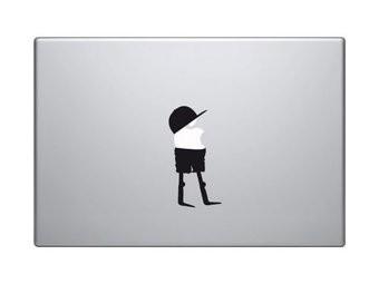 Poppetje mac Sticker