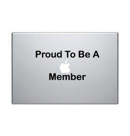 "Autocollant mac ""Proud to be a mac member"""