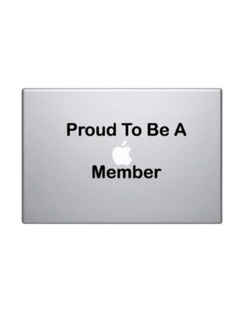 "Autocollant mac ""Proud to be a mac member"""