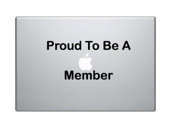 """Pegatina Mac """"Proud to be Mac"""""""