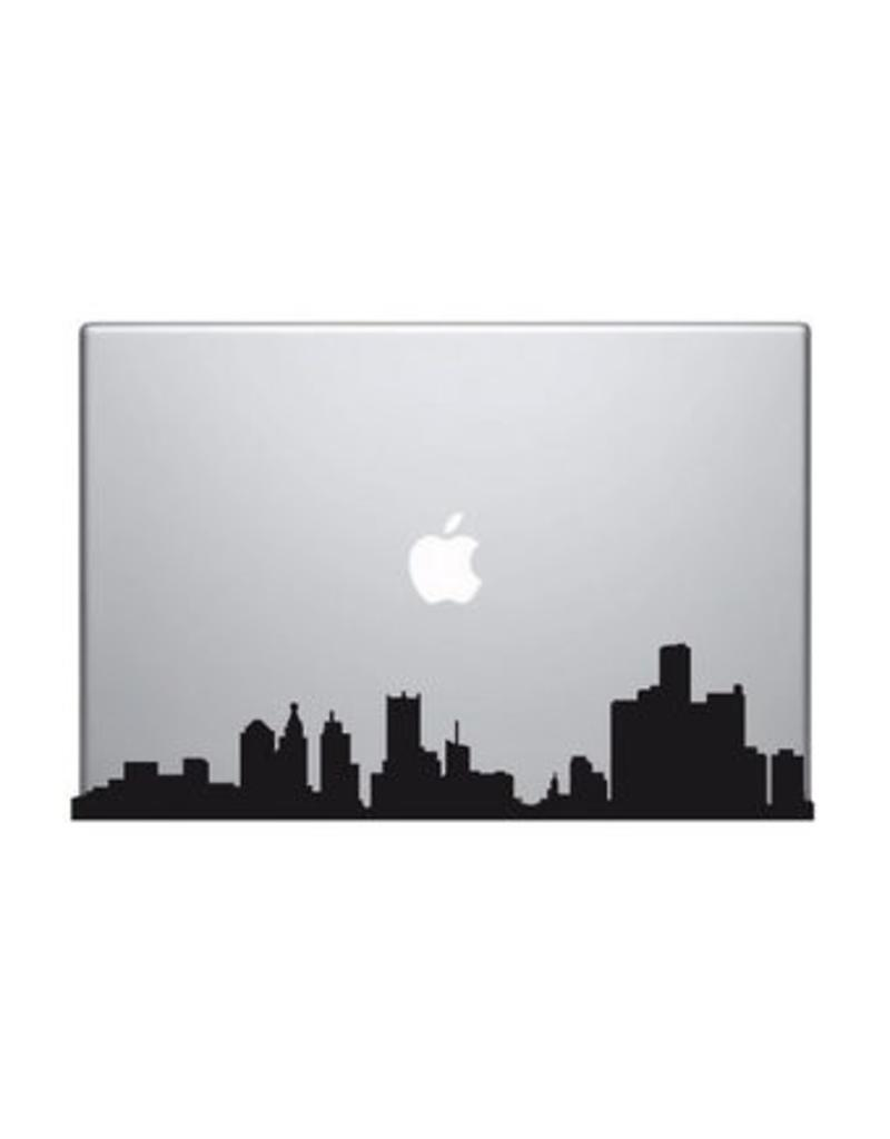 Skyline mac Sticker