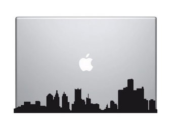 Skyline mac Sticker