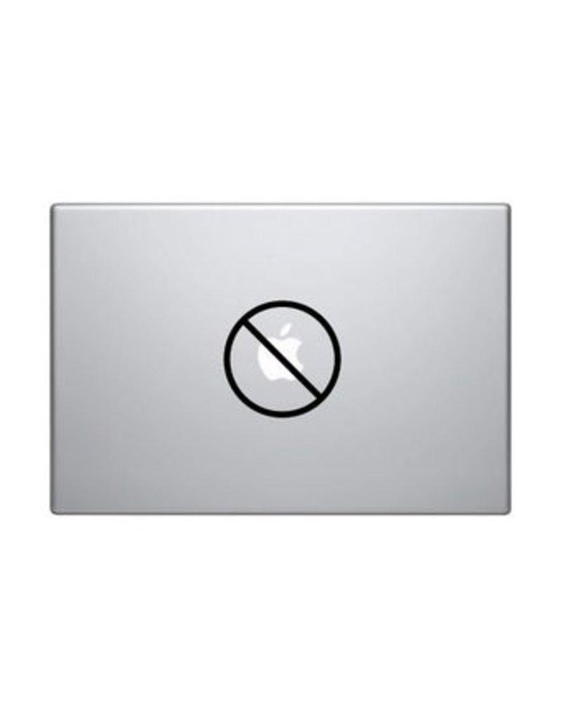 Verboden mac Sticker