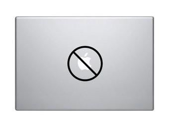 Pegatina Mac prohibido