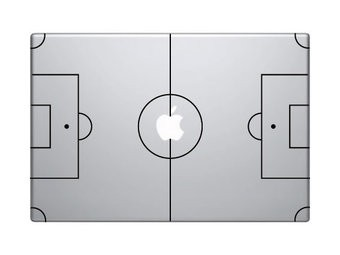 Football pitch mac Sticker