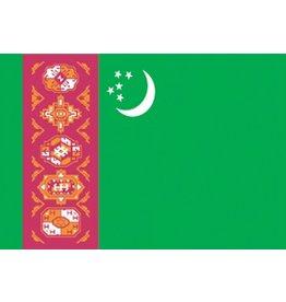 Turkmenistaanse vlag Sticker