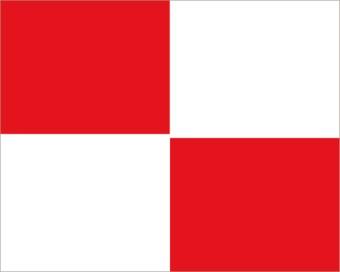 Nautische U Flagge Sticker