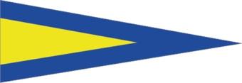 Nautische 1. Flagge Sticker