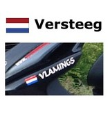 Bandera holandesa con la vespa nombre de la etiqueta engomada