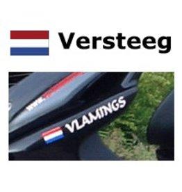 Niederländische Flagge mit Namen Sticker Roller