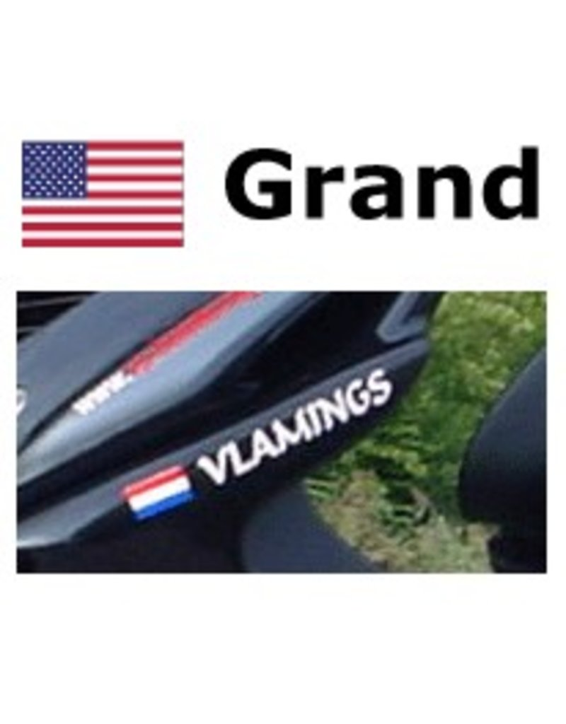 Amerikaanse vlag met naam scooter Sticker