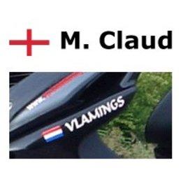 Bandera de Inglés con la vespa nombre de la etiqueta engomada