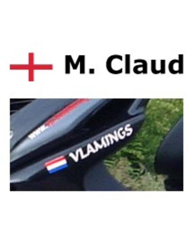 Engelse vlag met naam scooter Sticker