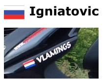 Russian flag with name Sticker scooter